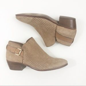 Sam Edelman Shoes - Sam Edelman Tan Eyelet Buckle Ankle Booties